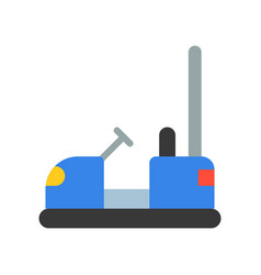 bumper car icon amusement park related flat style vector image