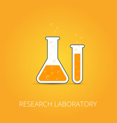 chemistry icon of icon beaker vector image