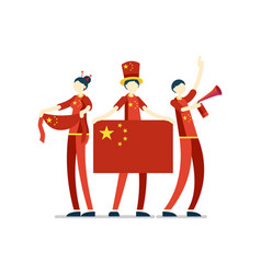 Chinese people china flag vector