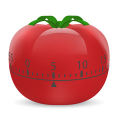 cooking timer mockup realistic style vector image