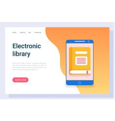 ebook equipment wireless device tablet vector image