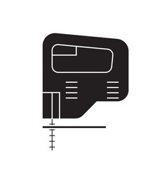 electric jigsaw black concept icon vector image