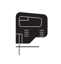 Electric jigsaw black concept icon vector