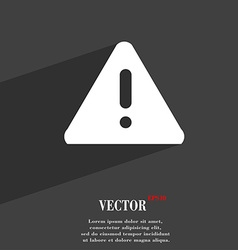 exclamation mark Attention caution symbol Flat vector image