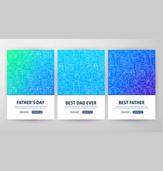 father day flyer concepts vector image