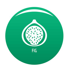 fig icon green vector image