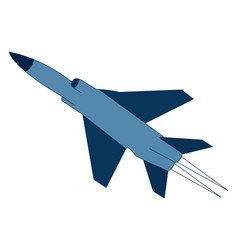 fighter aircraft on white background vector image
