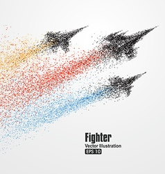 Fighter particles symbol of rapid developme vector