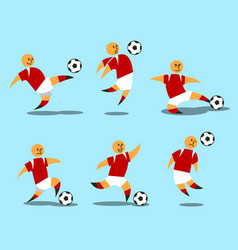figurative soccer player vector image