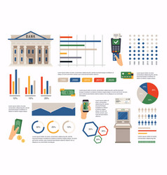 finance infographic can be used for info graphics vector image