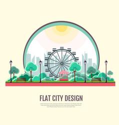 flat style modern design public park landscape vector image