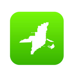 florida map icon digital green vector image