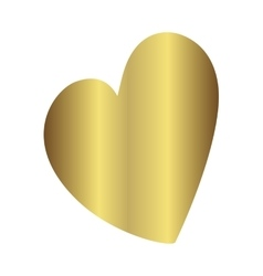 Gold gradient foil heart Valentine day love vector