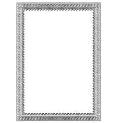 greek frame with meander vector image
