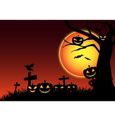 Halloween festive background vector image