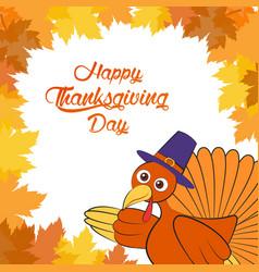 Happy thanksgiving day cartoon character vector