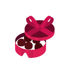 Happy valentines day chocolates candy box vector
