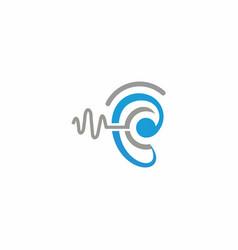Hearing logo template icon design vector
