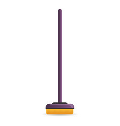 house brush mop icon cartoon style vector image