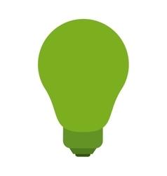 Isolated green light bulb design vector