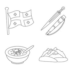 Isolated object traditions and national symbol vector