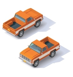 Isometric pickup vector