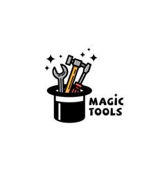 magic tools logo vector image