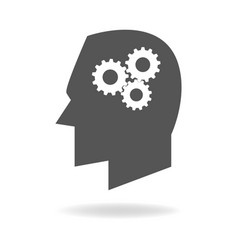 mind icon of thinking process vector image