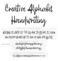 Modern calligraphy vintage handwritten font vector