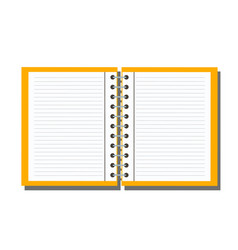 open notebook isolated on background vector image