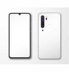 realistic smartphone mock up set mobile phone vector image