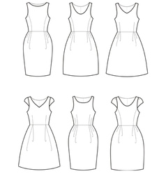 Romantic dresses vector