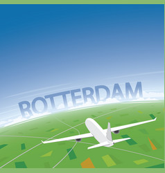 Rotterdam flight destination vector