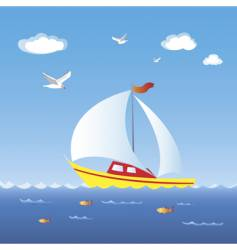 sail boat vector image