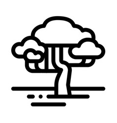 Savanna tree icon outline vector