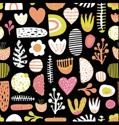 Seamless abstract colorful kids pattern vector