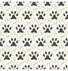 seamless animal pattern paw footprint vector image