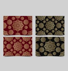 set islamic seamless ornament persian vector image