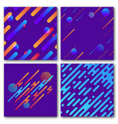 set of abstract geometric backgrounds modern vector image