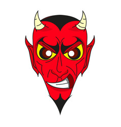 smiling devil head vector image