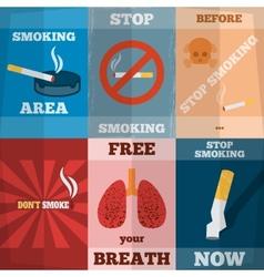 Smoking Mini Poster Set vector image