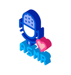 Sound in microphone asmr isometric icon vector