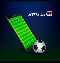 Sport betting online banner concept app online vector