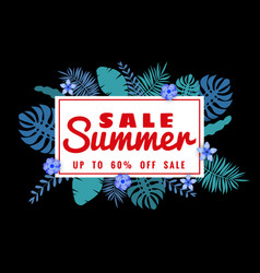 summer sale banner with paper cut flamingo and vector image