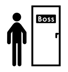 the man at the boss door vector image