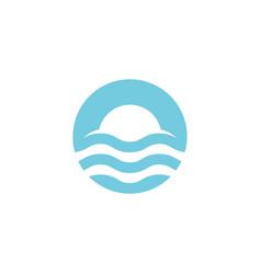 waves logo circle wave symbol blue around water vector image