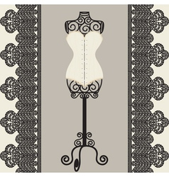 mannequine and corset vector image