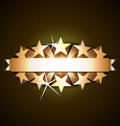 shiny ribbon vector image