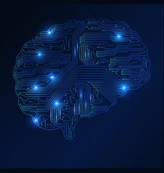 sing of brain sing of brain vector image