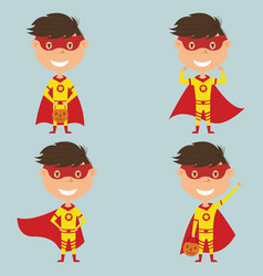 halloween superhero boy vector image
